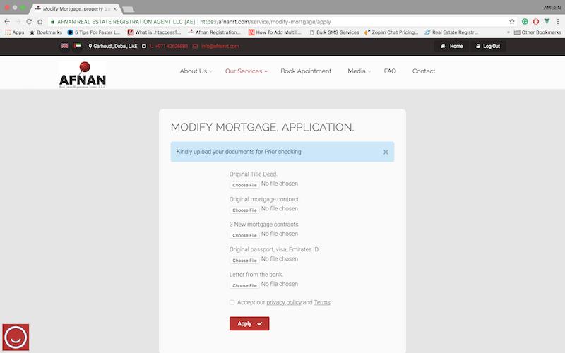 Afnan Real Estate Registration Trustee application form