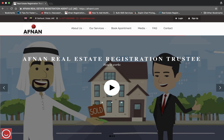 Afnan Real Estate Registration Trustee home page