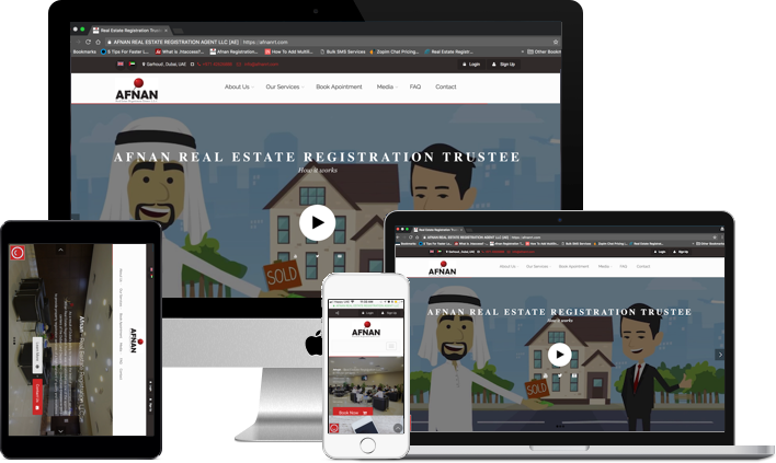 Afnan Real Estate Registration Trustee website